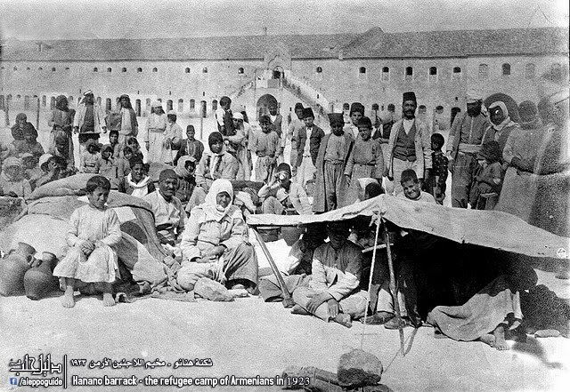 armeni 1923 -  the refugee camp of Armenians in 1923