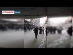 Trapped civilians in eastern Aleppo protest against rebel leadership