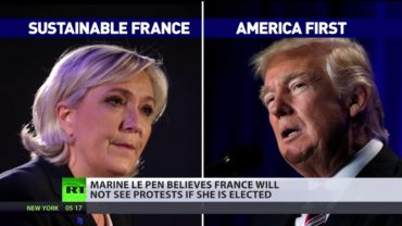 In France, we respect election results – Marine Le Pen on anti-Trump protests & French vote