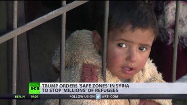 Trump orders 'safe zones' in Syria for refugees fleeing war