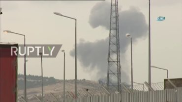 Turkey: Smoke rises above Afrin province on second day of bombardment