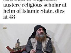 "Washington Post sostiene che Al-Baghdadi ""Non è morto come un codardo"" …"