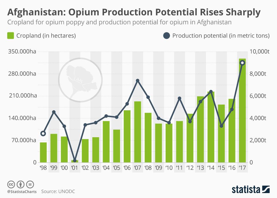 Gli USA lasciano l'Afghanistan, che è oggi il primo produttore mondiale di oppio 2